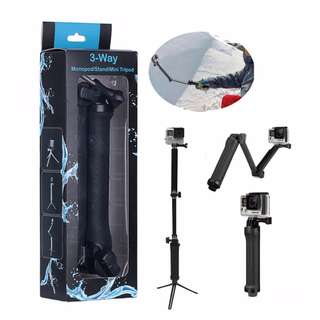 3-Way Monopod and Tripod 3 Way For Action Camera XiaoMi Yi GoPro SJCAM