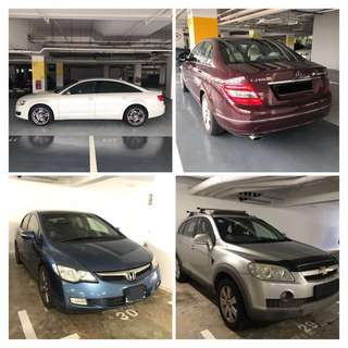 MPV, Luxurious Saloons, Economic Saloons for Rental