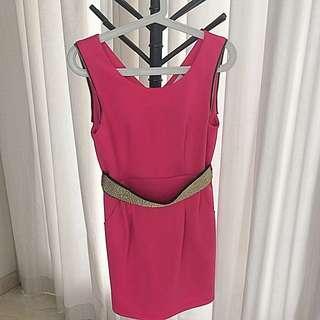 Max Mara Hot Pink Dress Size M