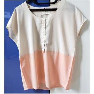 (X) S.M.L. White-Pink Shirt
