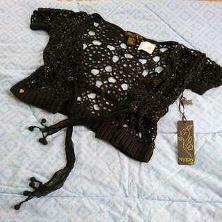 Lace and beaded Black bolero