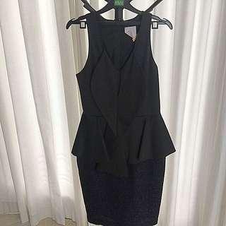 Ciel Black Peplum Dress Size 4