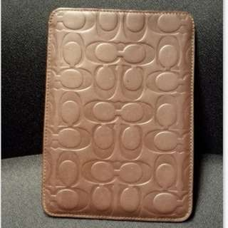 Authentic Coach brown leather ipad mini sleeve