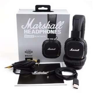 MARSHALL MAJOR 2 BLUETOOTH HEADPHONES <NEW AND SEALED>