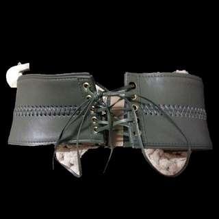 Bardot khaki corset belt