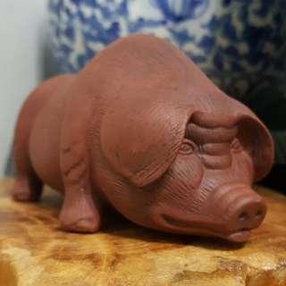 早期 紫砂 陶瓷 母豬