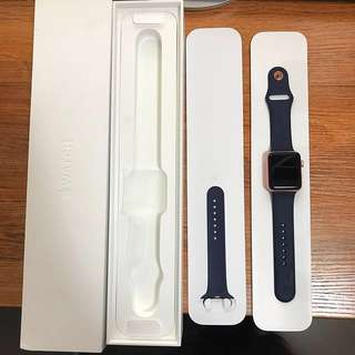 Apple watch Series 2 42mm 玫瑰金色 行貨 第二代