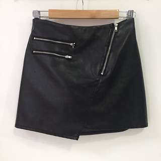 H&M Pleather Mini Skirt