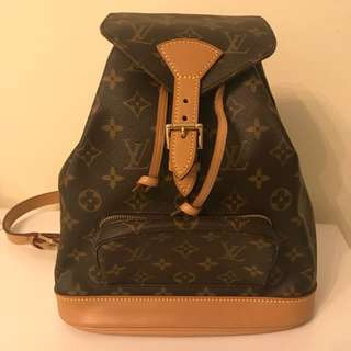Authentic LV Montsouris Backpack Monogram