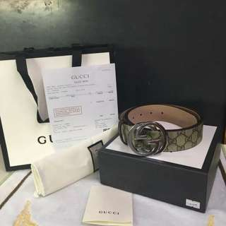 AUTHENTIC GUCCI INTERLOCKING BUCKLE BELT