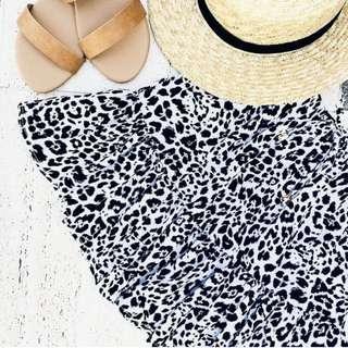 Dissh Leopard Print Skirt - xs