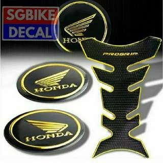 Progrip Tankpad n Honda Gold Emblem Set