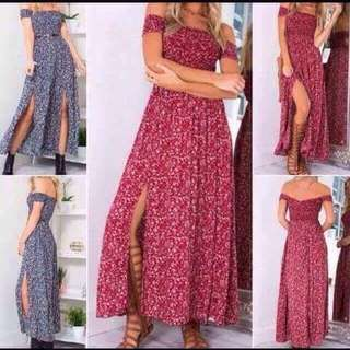 red maxi dress BNWT small to xs small