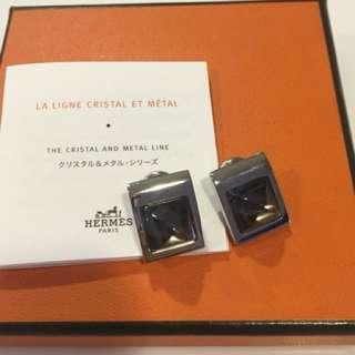 Hermès Crystal and Metal Earrings