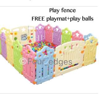 Grand Sales!!Baby Safety Play Yard Play Fence FREE playmat+play balls