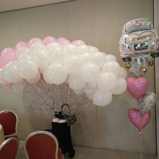 ROM wedding ceremony balloons decoration