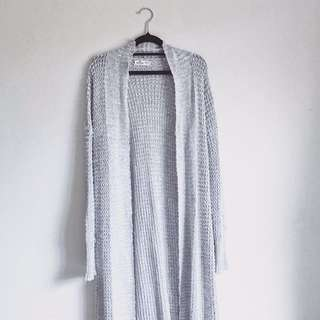 S/M Hollister Gray Long Knitted Cardigan
