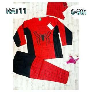 kostum spiderman setelan anak costume superhero topeng murah terbaru