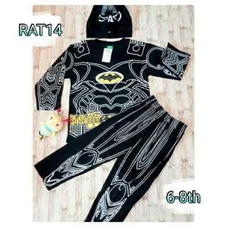 kostum batman kelelawar hitam supe rhero karakter setelan anak topeng