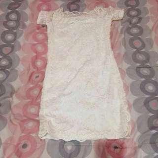 H&M White Mini Dress Sabrina