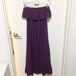 Purple Boob Tube Dress