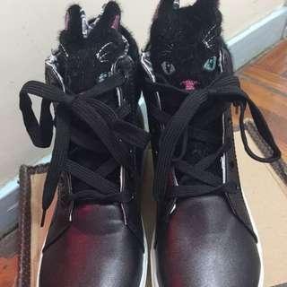 全新黑色貓貓鞋