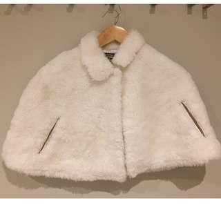 White Furry Cape / Shrug