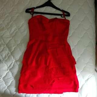 BCBG Red Dress Size 4/S. Original
