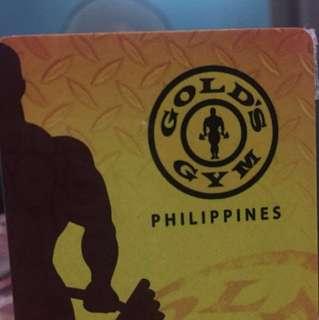 Golds Gym Membership Card