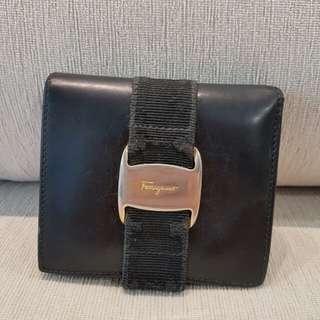 Salvatore Ferragamo Ribbon Leather Short Wallet