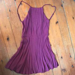 Maroon Backless Dress Size XS