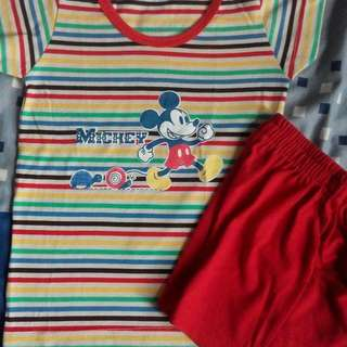 Mickey shirt with short