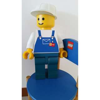 LEGO MAN - Mould figure - Blue shirt - LEGO Figuring - 19 inches