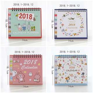 2018 Plant, Wreath, Kanahei and Forest Animals Calender