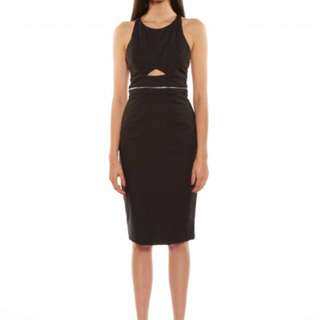 New Talulah Ava Black Cut Out Midi Dress
