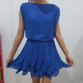 Korean royal blue dress