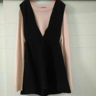 [NEW] BLACK OUTER WEAR DRESS