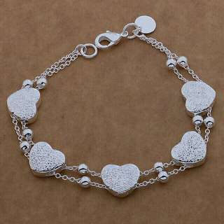 925 Heart Silver Bracelet