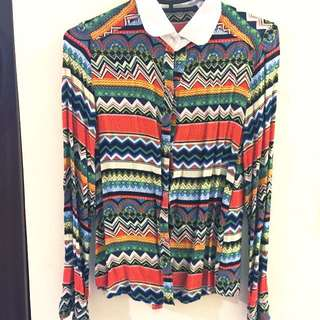 Vintage圖騰襯衫