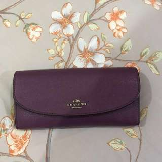 Coach wallet purple