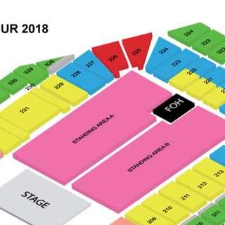 BRUNO MARS SINGAPORE - STANDING PEN A - 24K MAGIC WORLD TOUR