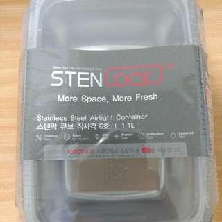 🚚 全新 韓國Stenlock高級不鏽鋼304樂扣高蓋保鮮盒 便當盒 飯盒
