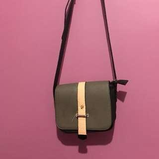 Sportsgirl grey pink black side shoulder bag mini