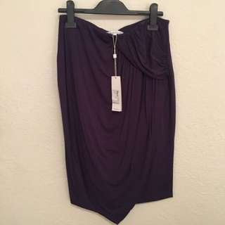 Asymetrical Jersey Pencil Skirt