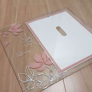 Glass photo frame with floral printsp