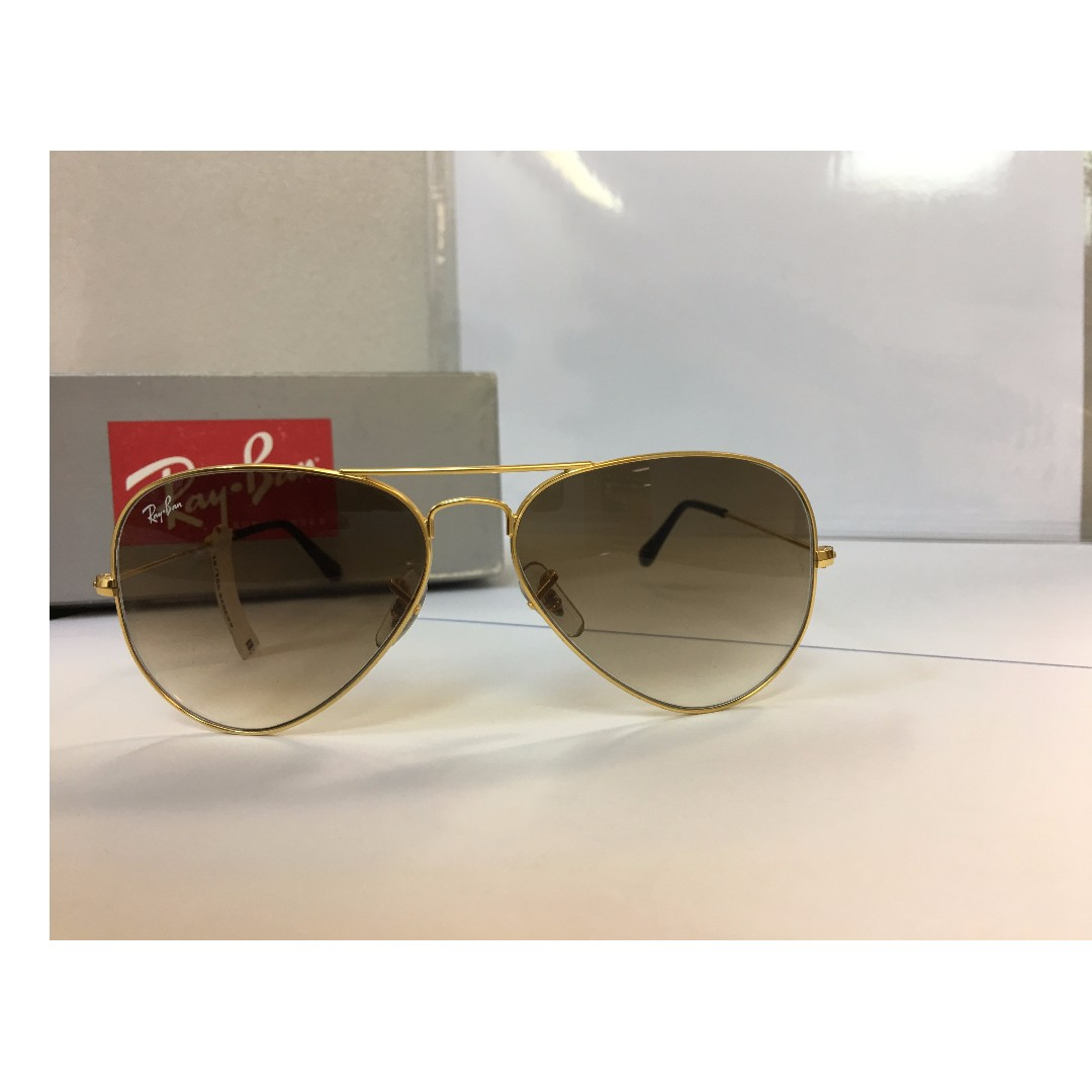 166bc8e8ae2cb 15% off on Ray-ban RB3025 001 51 Golden Brown Gradient Aviator ...