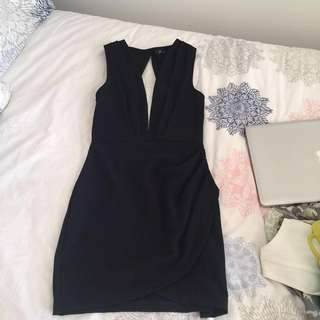 Open Black Dress size 8