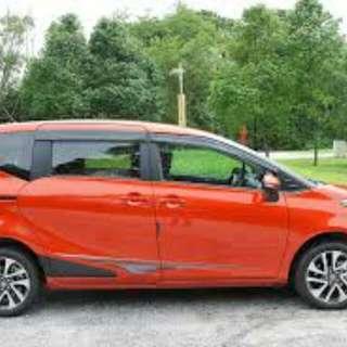 Rental/Sewa mobil sienta orange type V AT