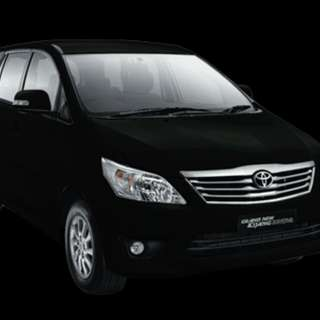 Rental/ Sewa Mobil Kijang innova black V AT