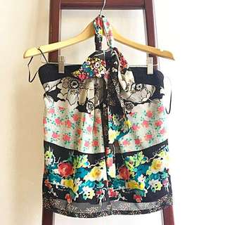 Dazzling Floral Silk Top by Eclipse - Malaysian Designer Brand